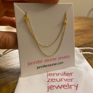 tiny star double necklace by Jennifer Zeuner